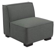 Armless Chair-gray Cinder #zw7381-5