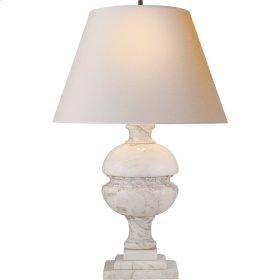 Visual Comfort AH3100WM-NP Alexa Hampton Desmond 26 inch 100 watt White Marble Decorative Table Lamp Portable Light