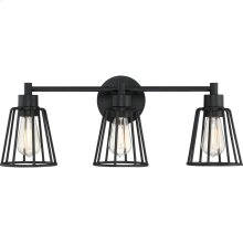 Atticus Vanity Light in Earth Black