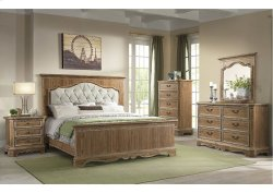 1048 Cottage Charm King Bed with Dresser and Mirror