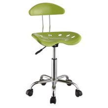Apple Green & Chrome Adjustable Height Rolling Chair - 2 pcs in 1 carton