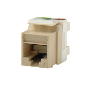 Category 5e Keystone jack, Electrical Ivory
