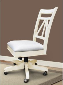 Armless Desk Chair With Upholstered Seat