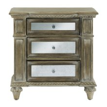 Mirrored Accent Nightstand