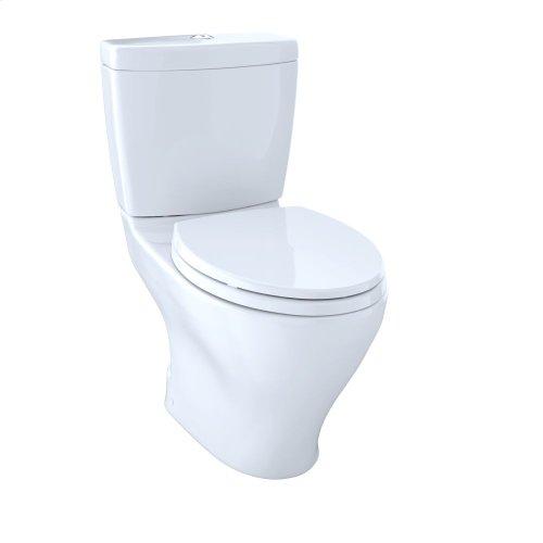 Aquia® Dual Flush Two-Piece Toilet, 1.6 GPF & 0.9 GPF, Elongated Bowl - Cotton