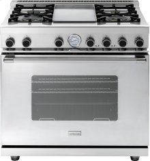 """Range NEXT 36"""" Classic Stainless steel 4 gas, griddle and gas oven"""