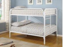 Full / Full Metal Bunk Bed (White)
