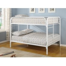 Fordham White Full-over-full Bunk Bed