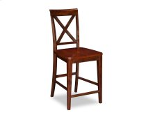Lexi Pub Chairs Set of 2 with Wood Seat in Walnut