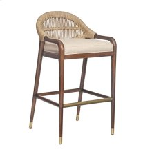 Thatch Chronograph Low Back Abaca Counterstool
