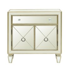Glam Mirrored Accent Chest