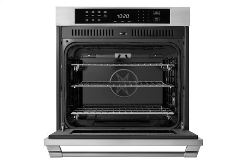 """Heritage 27"""" Single Wall Oven, Silver Stainless Steel with Pro Style Handle"""