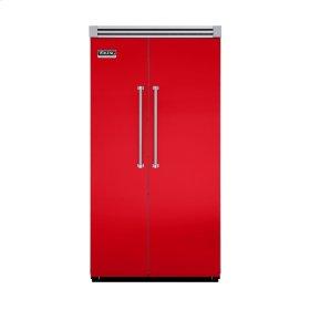 "Racing Red 42"" Quiet Cool™ Side-by-Side Refrigerator/Freezer - VISB Tru-Flush™ (42"" wide)"