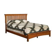 Bungalow Spindle Bed with Low Footboard - Cal King