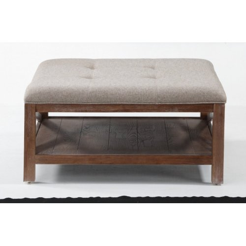 Hampton Light Square Cocktail Ottoman with Casters