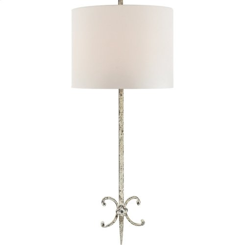 Visual Comfort SK2009BW-L Suzanne Kasler Roswell 2 Light 11 inch Belgian White Decorative Wall Light in Linen