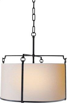 Visual Comfort S5030BR-NP Ian K. Fowler Aspen 4 Light 20 inch Hand Painted Blackened Rust Hanging Shade Ceiling Light