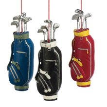 Golfbag Ornament (3 asstd).