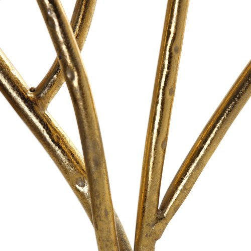 Gold Branches Decorative Fireplace S