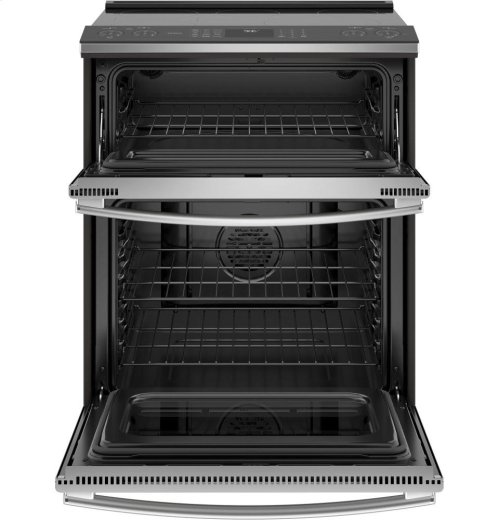 "GE Profile Series 30"" Slide-In Electric Double Oven Convection Range"