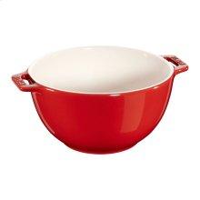 """Staub Ceramics 7"""" Serving Bowl, Cherry"""