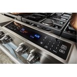 Kitchenaid Limited Edition Kitchenaid® 36'' 6-Burner Dual Fuel Freestanding Range, Commercial-Style - Misty Blue