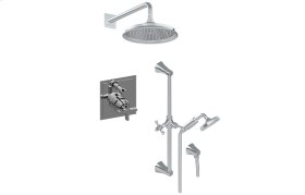 Full Pressure Balancing System - Shower and Slidebar with Handshower (Rough & Trim)