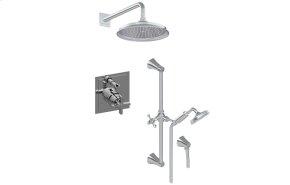 Full Pressure Balancing System - Shower and Slidebar with Handshower (Rough & Trim)