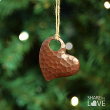 "2"" Copper Heart Ornament"
