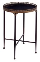 Round Black Accent Table Product Image