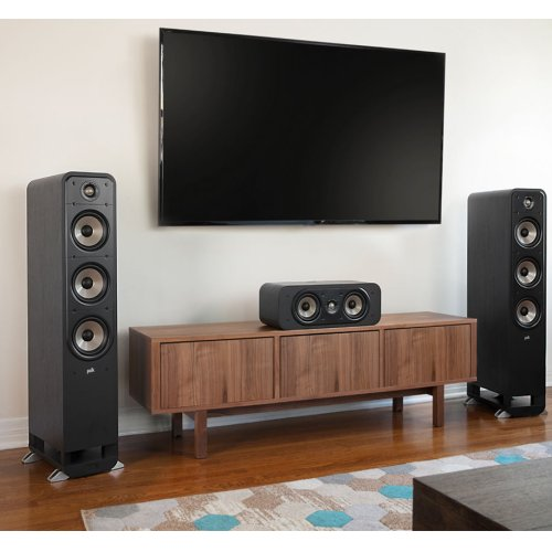 High Resolution Home Theater Center Speaker in Black