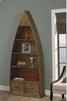 Tuscan Retreat® Dinghy Boat 4 Shelves Bookcase With Drawers - Antique Pine Product Image