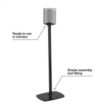 Black- Secure floor stand.