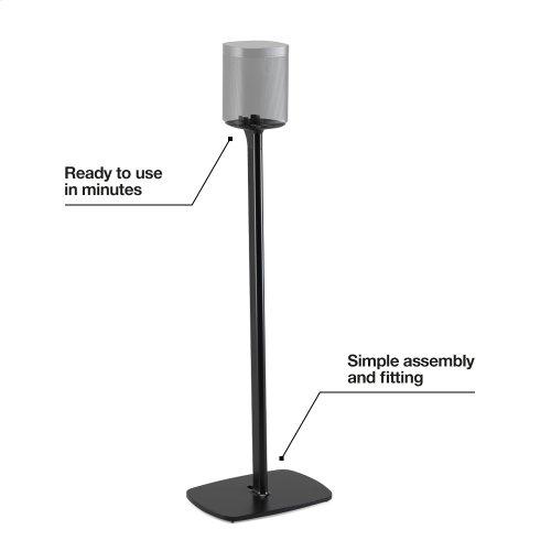 Black- Secure floor stand.