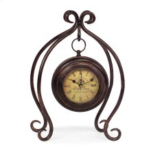 Iron Hanging Clock with Stand