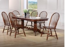 Sunset Trading 7 Piece Double Pedestal Extension Dining Set