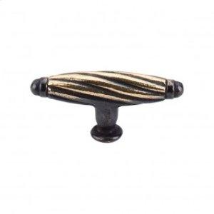 Versailles T-Handle 2 3/4 Inch - Dark Antique Brass