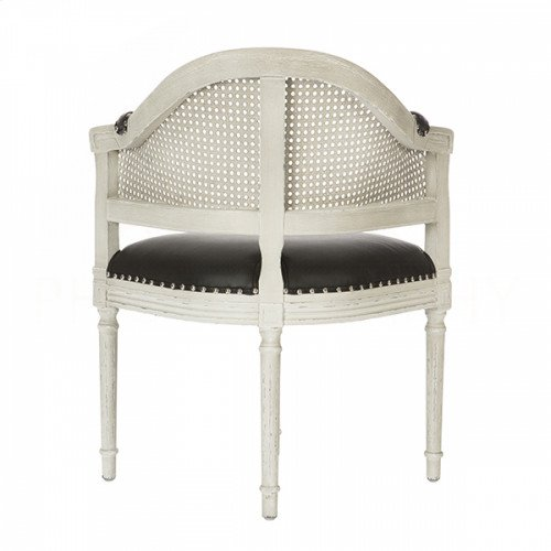 Blue Cane Back Parker Gray Chair