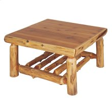 "Open Square Coffee Table - 34"" x 34"" - Natural Cedar"