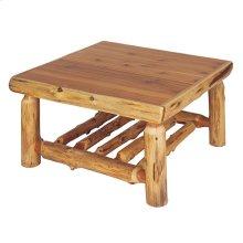 "Open Coffee Table 34"" x 34"", Natural Cedar, Standard Finish"