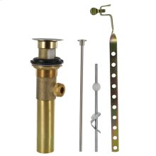 """Brushed Nickel 1 1/4"""" Metal Pop-Up Drain Assembly with Lift Chrome"""