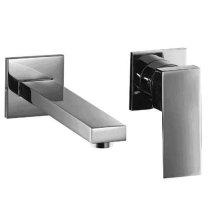 AB1468 Brushed Nickel Single Lever Wallmount Bathroom Faucet