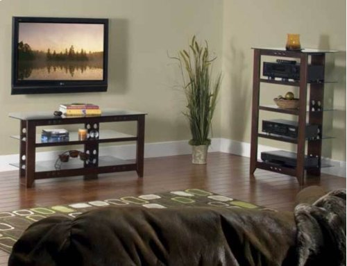Mocha Audio Stand Contemporary design and solid construction come together to create strength and beauty