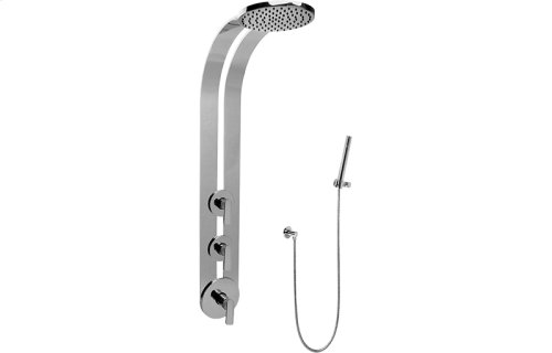 Round Thermostatic Ski Shower Set w/Handspray (Rough & Trim)