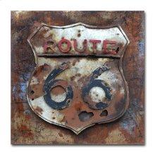 Route 66 32x32 Metal Art