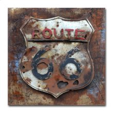 Route 66 32x32 Metal Art