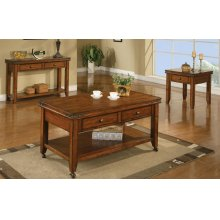 2-Drawer Coffee Table w/ Caster