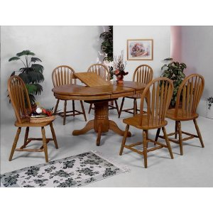 Pedestal+leg for 1052D.OAK-TOP