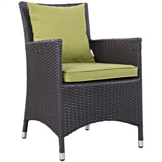 Convene Dining Outdoor Patio Armchair in Espresso Peridot