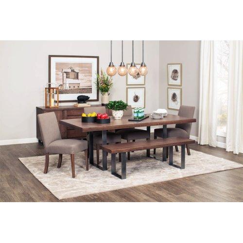 """Ironwood Trestle Table, Ironwood Trestle Table, 42""""x60"""", Solid Top, Black Base"""